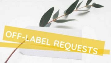 off-label requests on social media